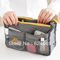 Receive double zipper bag to receive bag bag bladder  (gray)
