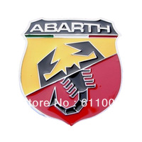 3D Metal Fiat ABARTH Badge / Emblem Auto Car Front bumper rear back tank door window Auto/Truck/Van/Motorcycle Sticker Decal