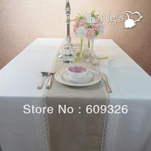 FREE SHIPPING 5 pieces Burlap Table Runner Wedding Decoration(Hong Kong)