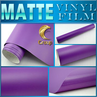 Matte Purple Vinyl Car Wrap Sticker High Quality For Car Decoration With Bubble Free Size: 1.52 m x 30 M Free Shipping