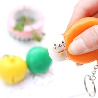 30pcs Novelty commodities orange small decompression keychain