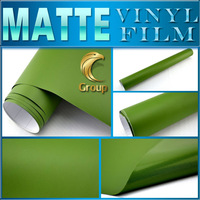 Military Green Matte Vinyl Car Wrap Sticker High Quality For Car Decoration With Bubble Free Size: 1.52 m x 30 M Free Shipping