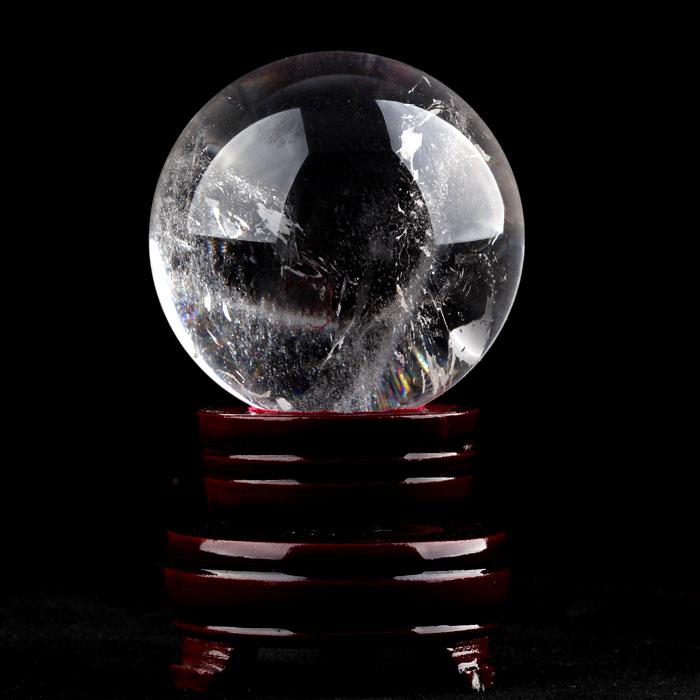 4pcs/lot Natural white crystal ball feng shui ball 23MM--28MM(China (Mainland))