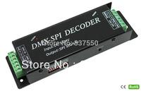DC5V-24V SPI signal(DATA, CLK)Output DMX- SPI Decorder for IC6803,1803,1809,1812,1903,2811,2801,3001,3008,9813,set by dip switch