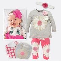 334# Free shipment  flower  piece clothing set summer baby girl's set  wholesales