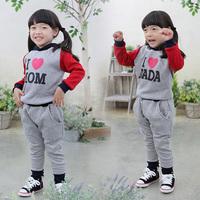 339 Free shipmen dad mom twin set  child fall clothing set casual sports  wholesales