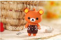 Free shipping, popular cartoon apron brown bear model 4 gb, 8 gb, 16 gb, 32 gb flash drive usb 2.0 / memory stick/car/thumb/gift