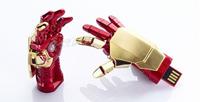 Free shipping - 2013 Hot sale Fashion Avengers Iron Man 3 hand LED Flash 2-32GB USB Flash 2.0 Memory Drive Stick USB419
