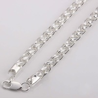 Hot Sale N083 8MM/21 Inch Necklace Choker 925 Silver Jewelry Long Necklaces Fashion Men Chain Man Wholesale Jewellery