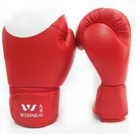 2013 Gloves boxing gloves PU faux leather molding type gluing  free shipping