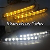 2 x DRL Daytime Running Lights 9 LED White Light Lamp Car Turn Signal Lights