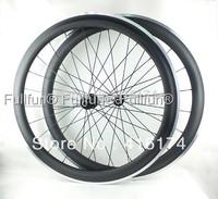 FULLFUN 50mm 1550g Alloy Braking Surface Carbon Wheelset 700C Clincher Road Bike UD Matte Novatec 291/482-sl Cn424 Super light