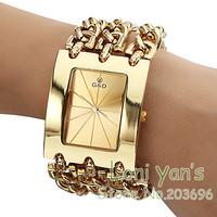 Luxury Watch Big Band Gold Quartz Watches Men Women Wriatwatch