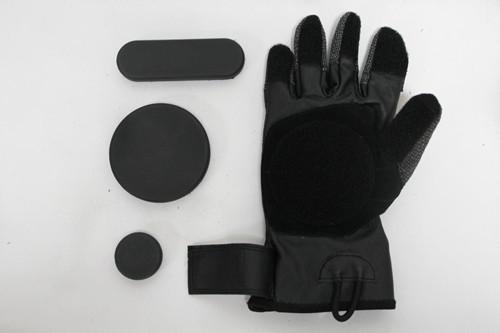 Free Shipping Fingertips Protection Longboard Downhill Rider Skateboard Gloves(China (Mainland))
