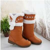 Long boots low heel, Hot sale! 2013Fashion dress casual style for lady.High quality snow boots. Free shipping! large size,50