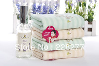 Free Shipping, 5pcs/Lot 100% Cotton Face Towel 50X25CM 46g/piece ,2 Colors , cheap and good quality from factory