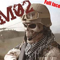 M02 Zombie Skeleton Skull Bone Full Face Mask for   survival war game Movie Prop the walking Dead Cosplay