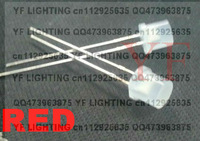Diffused 5MM flat top red led 1.8-2.2V 620-630nm wide angle DIP LED
