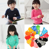2013 autumn candy bear child baby male child girls clothing basic shirt long-sleeve T-shirt 1012