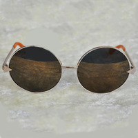 Free Shipping 2013 New Designer Brand  Vintage Round Style Sunglasses Karen Walk Von Trapp 2 Colors Retail