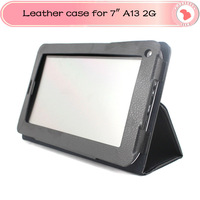 Freeshipping leather case for 7inch Allwinner A13 2G phone tablet pc