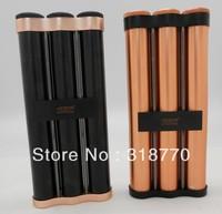 Free shipping new cigar holder, JF-031, metal cigar tube with high quality, aluminium material, cigar humidor for 3 cigars