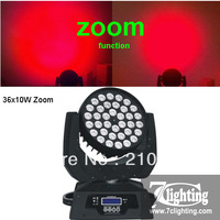 2units+ Free shipping 36x10W Zoom Moving Head Wash Light,RGBW Quad LED Moving Head