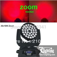 2units+ Free shipping 36x10W Zoom Moving Head Wash Light,RGBW Quad LED Moving Head