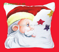 Free shipping Polyester Peach Skin Satin Fabric Digital Print Cushion Cover HT-PPSDPC-C Christmas Style