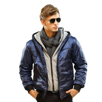 2013 New Fashion Design Style Parkas Men's Outwear/Coat hood wadded jacket outerwear men's clothing slim cotton-padded jacket