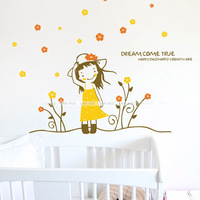 Lovable Secret - Wall stickers ofhead child real princess real decoration  free shipping