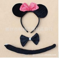 2013New style Free shipping Adults Children animal  hairebands three-piece three-piece Mickey Mouse cartoon/other cartoon style