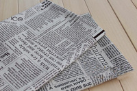 Free Shipping! Fashion Newspaper linen cotton fabric assortment 100cm x 145cm patchwork variety fresh printed textile Zakka