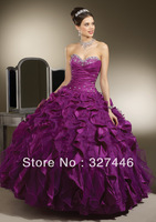Cheap Quinceanera Dresses Purple Blue Belle Fluffy Appliques Pleats Ruffles Debutante Abendkleide Obe De Soiree Sweet 16 Gown