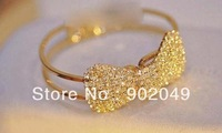Hot Sale Shine luxury claw drill butterfly knot simple spring Bracelet KJ-S1311 free shipping