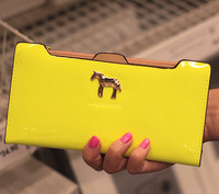 Four color long&short new/latest pu material pure color women wallet ladies purse girls clutch/card bag hot horse new wallets