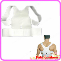 Hot Sale! New Men Women Magnetic Posture Support Corrector Back Pain Feel Young Brace Shoulder Belt L-XL