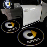 SMART LOGO Car LED Emblem Welcome Light Door Step Ground Projecting Lamp For fortwo /for-us /Roadster /Crosstown /forfour etc