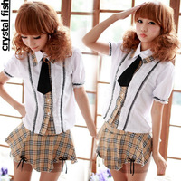 2013 2014 summer hot cute pretty sexy Japanese school girl uniform British Japanese style costume cotton school wear