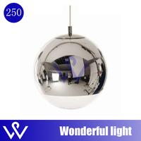 FREE SHIPPING 25cm  New Tom Dixon Shade Mirror Ball Light Pendant Chandelier Lamp Bulb