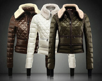 2013 New Arrived Ladys Branded Designer Wool Down Coat,Fashion Windproof Wadded Jacket,Size S,M,L,XL,High Waist Outwear Winter