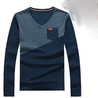 Free Shipping 2013 Wholesalel New Arrival Men hit color sweaters fashion pulloversV-Neck sweater Knitwear style