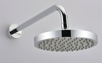 "8"" 200mm abs plastic round chrome rainfall spray shower head 4 shower bath ck045"