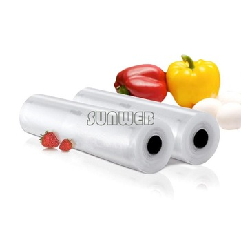 2PCS 28cm x 5m Food Storage Bags Sealing Sealer Rolls Machine Saving System Vacuum storage bags TK0966