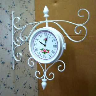 Wrought iron wall clock wall clock mute clock entranceway indoor decoration clock