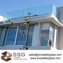 popular glass balustrade