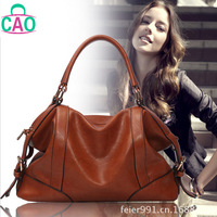 Simple elegant composite leather handbag fashion casual leather + microfiber tassel women messenger bag free shipping D10264