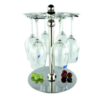 fashion stainless steel hanging wine rack wine cup holder
