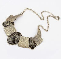 Min.order is $10{ mix order }.Europe and the United States retro fashion atmosphere geometric necklace.free shipping