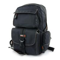 Women's casual backpack waterproof nylon outside multi-pocket backpack sport backpack black